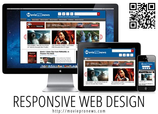 MoviePro News Responsive Design (2013)