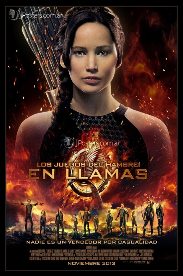 THE HUNGER GAMES CATCHING FIRE Jennifer Lawrence Poster