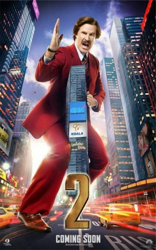 Anchorman 2 Will Ferrell Poster