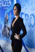 Demi Lovato on Red Carpet - FROZEN Premiere in Hollywood