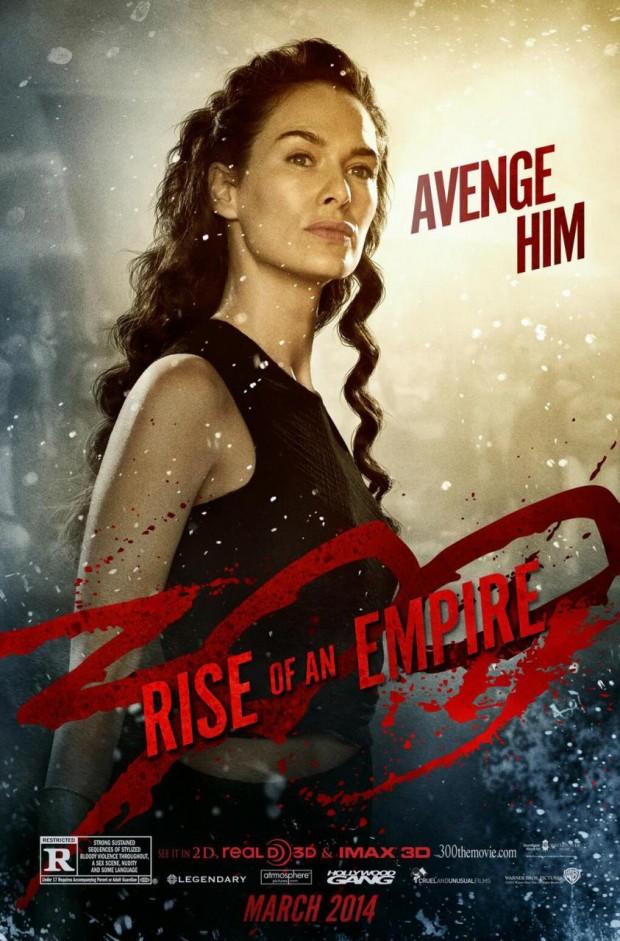 300 RISE OF AN EMPIRE Lena Headey Poster