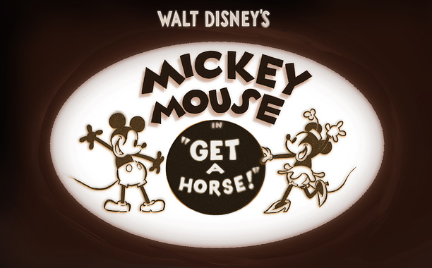 """""""GET A HORSE!"""" ©2013 Disney. All Rights Reserved."""