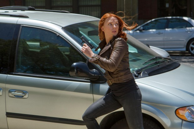 Two new CAPTAIN AMERICA: THE WINTER SOLDIER Photos Featuring Scarlett Johansson and Chris Evans