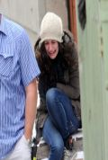 Emmy Rossum as  Fiona Gallagher on the Set of SHAMELESS