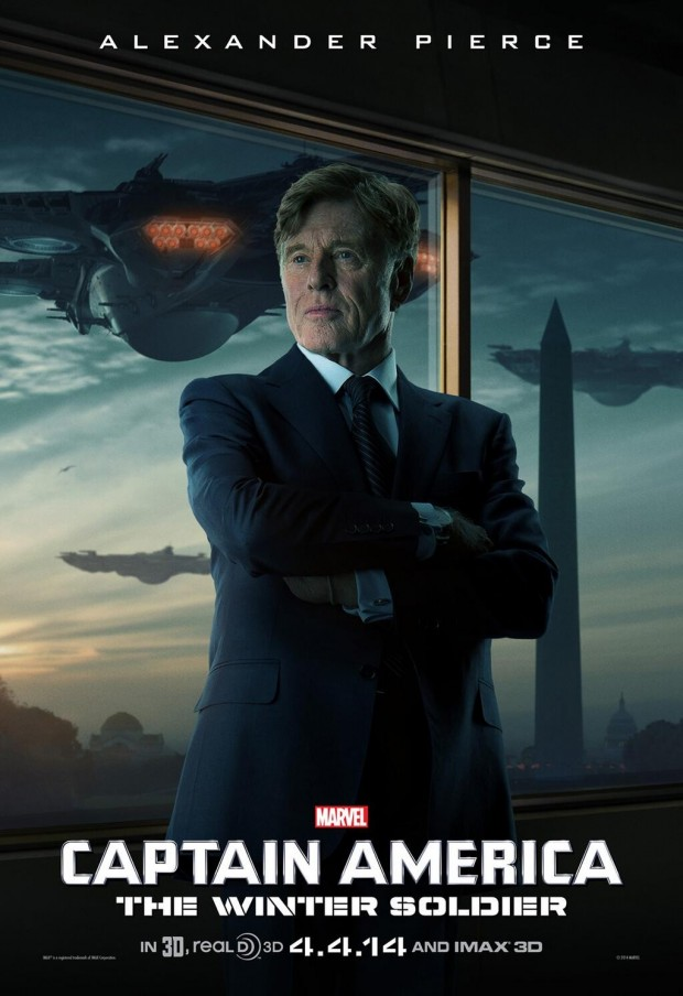 CAPTAIN AMERICA THE WINTER SOLDIER Poster Robert Redford