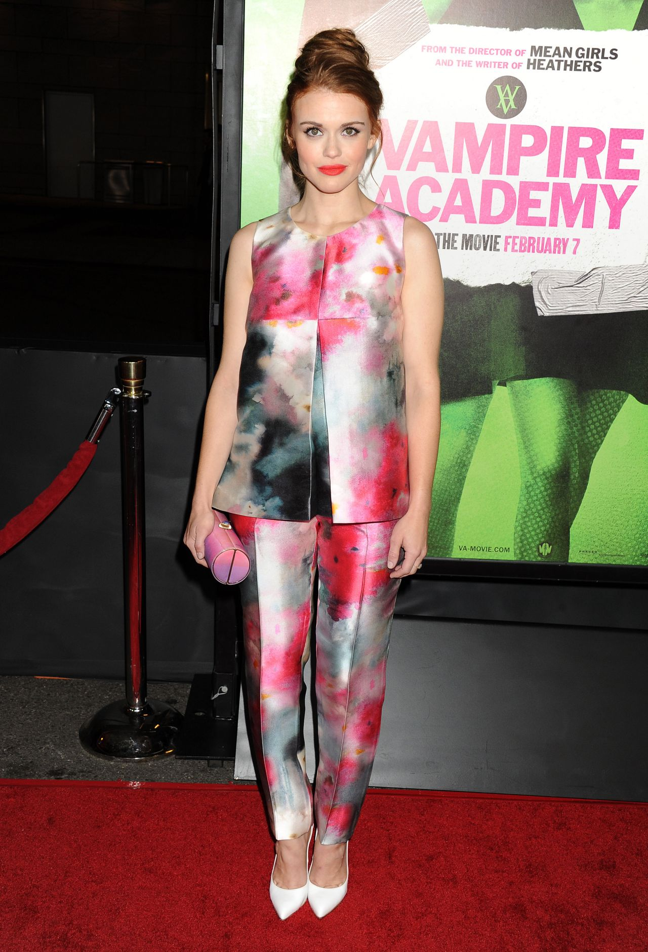 Holland Roden on Red Carpet - VAMPIRE ACADEMY Premiere in Los Angeles