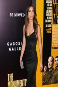 Lily Aldridge on Red Carpet - THE MONUMENTS MEN Premiere in New York City